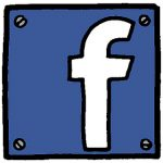 facebook logo cartoon